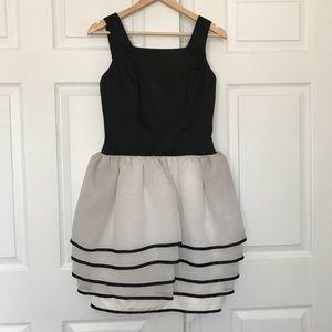 Vintage Victor Costa for Saks black white dress